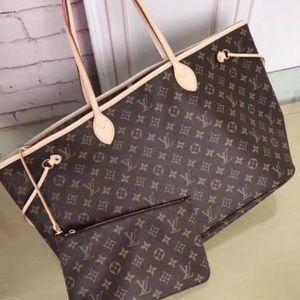 jNew Louis Vuitton Neverfull Handbag Purse MMe